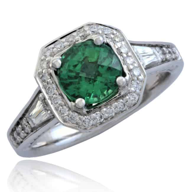 Tsavorite & Diamond Ring Image