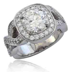 Intertwined Diamond Engagement Ring Image