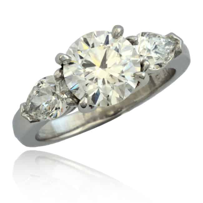 Round & Pear Shape Diamond Ring Image