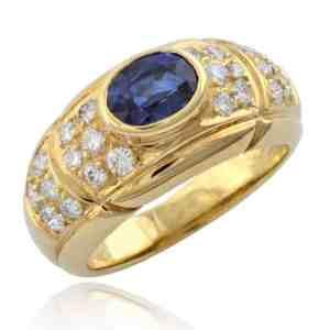 Oval Sapphire & Diamond Ring Image