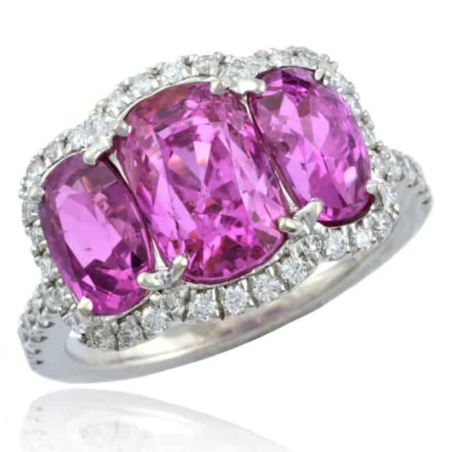 Pink Sapphire & Diamond Entourage Ring Image