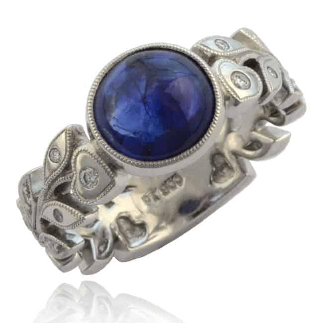 Sapphire & Diamond Vine Ring Image