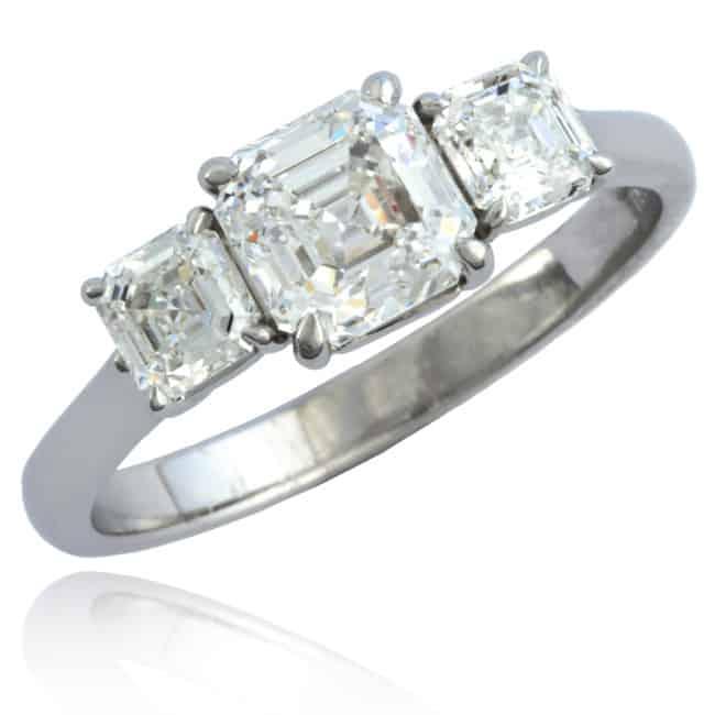 Royal Asscher Diamond Engagement Ring Image