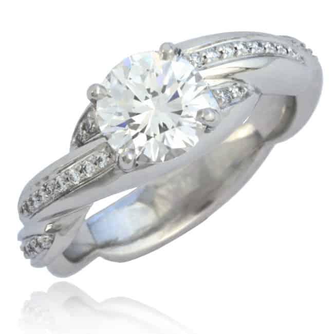Twisted shank Diamond Engagement Ring Image