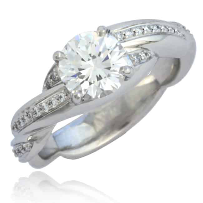 Twisted shank Diamond Engagement Ring Image