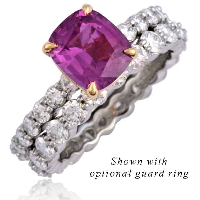 Pink Sapphire & Diamond Thread Ring Image