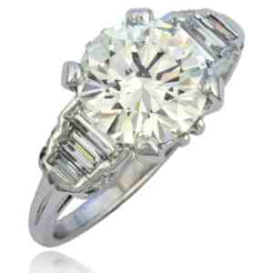 Vintage Platinum Diamond Ring Image