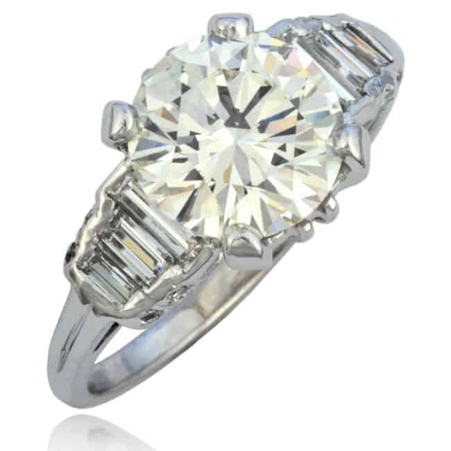 Vintage Platinum Diamond Ring Image