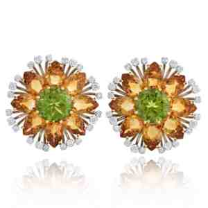 Citrine & Peridot Custom Earrings Image