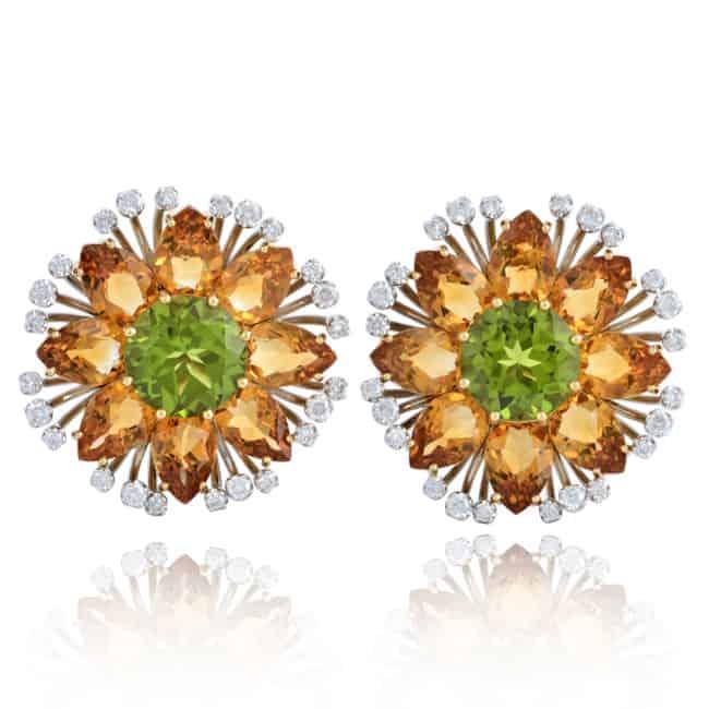 Citrine & Peridot Custom Earrings Image