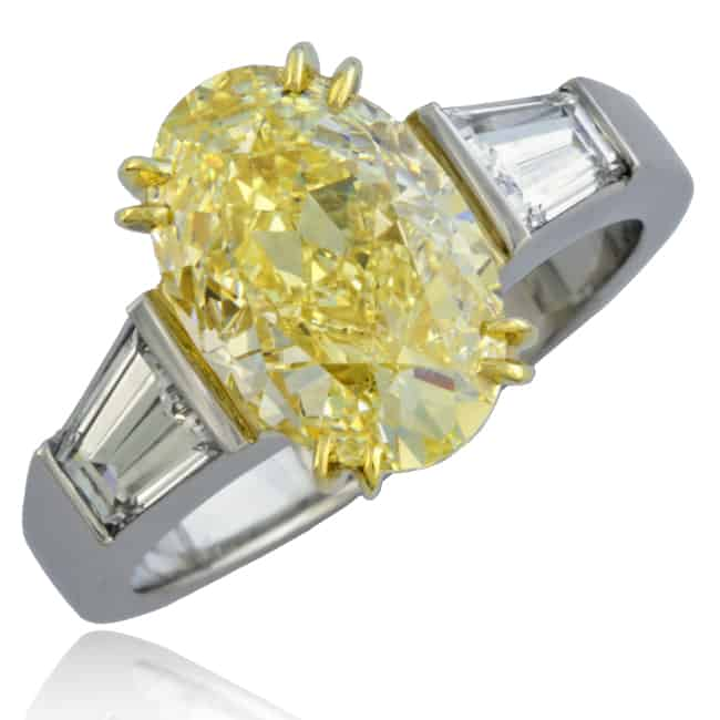 Fancy Yellow Diamond Engagement Ring Image