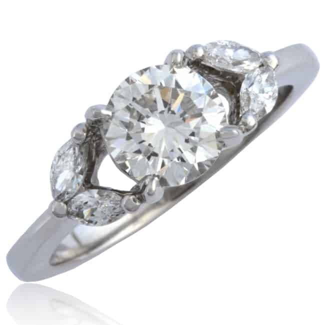 Platinum Diamond Engagement Ring Image