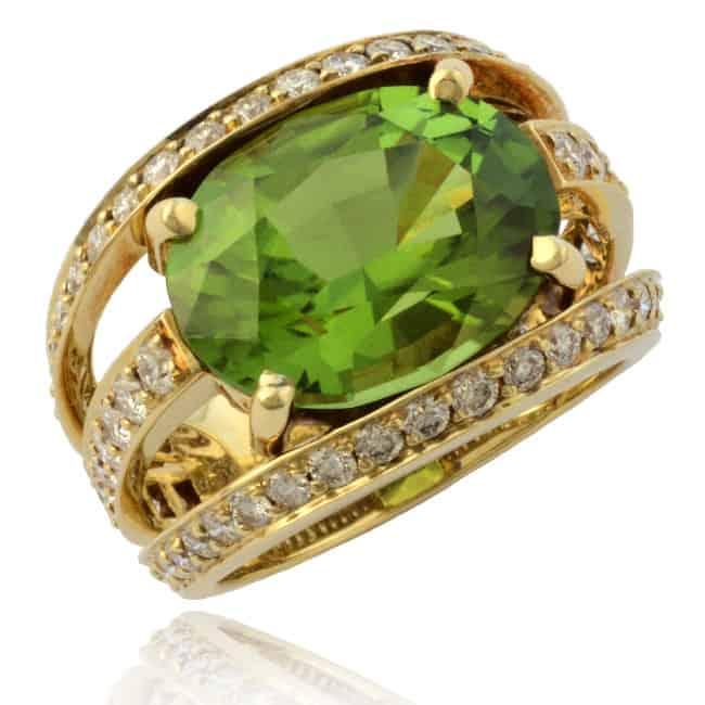 Peridot & Diamond Ring Image