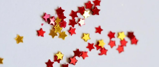 selective focus photography of assorted color stars