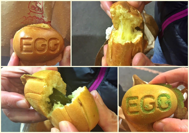 台中北區 小雞吃蛋糕 脆皮雞蛋糕 麻糬、拔絲內餡 一中商圈美食