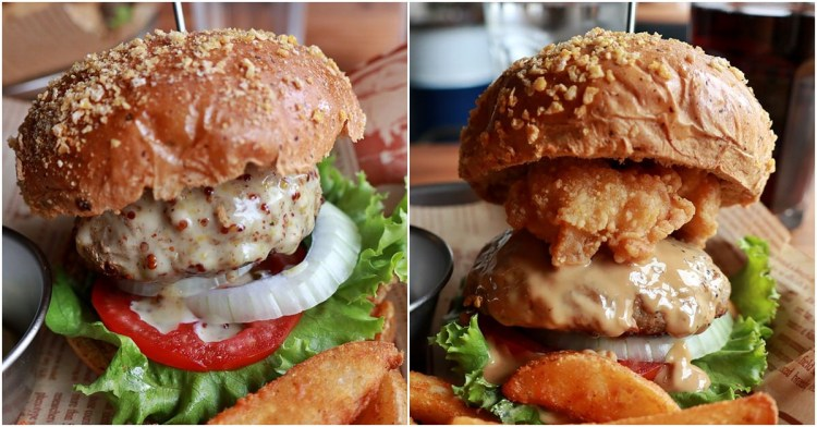 台中北區 先吃肉Meat First 層層疊疊用心製作的美式漢堡好看也好吃 一中美食
