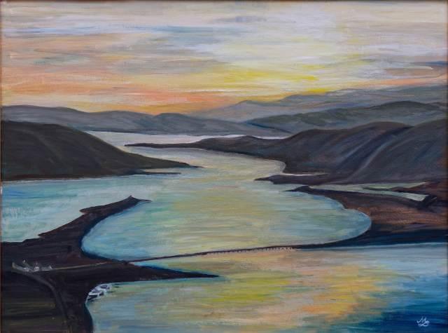 1998 - Nordische Landschaft - 100x80 cm, Öl