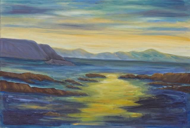 2013 - Sonnenuntergang - 80x60cm, Öl