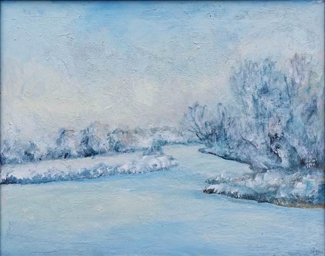 2011 - Winterlandschaft, 50x40cm, Acryl-Spachteln