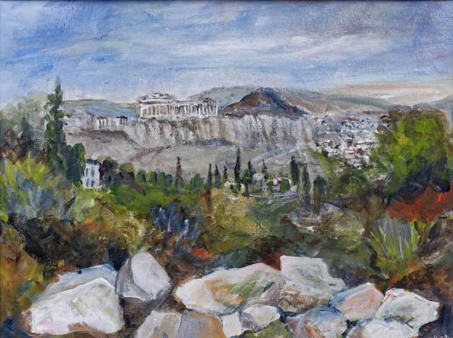 2009 - Athen- Akropolis, 40x30cm, Acryl-Spachteln