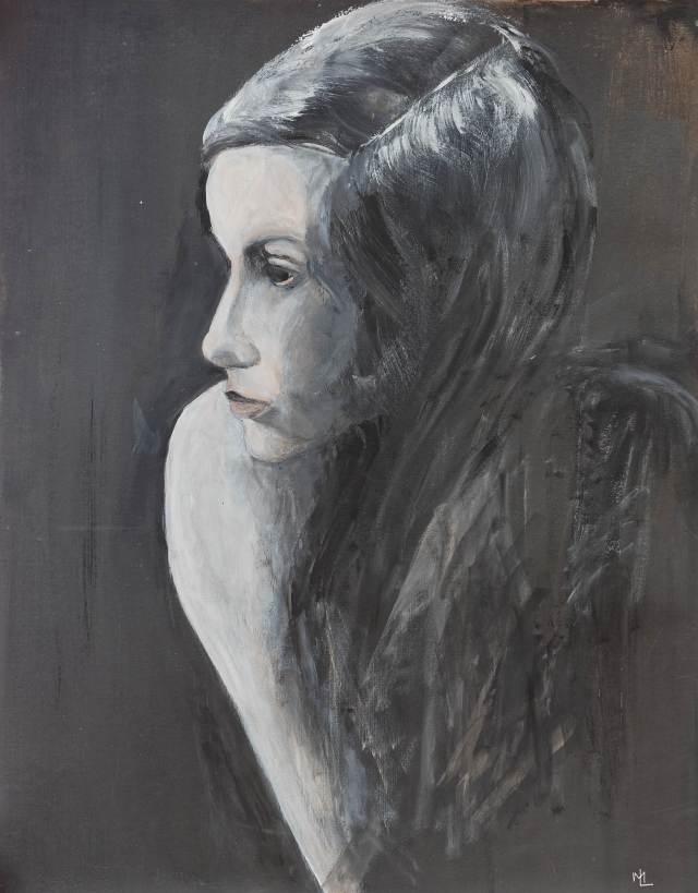 2014 - Portrait Twiggy - 60x50 cm, Acryl