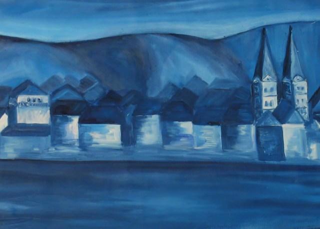 2000 - Boppard abstrakt, 40x30cm, Acryl