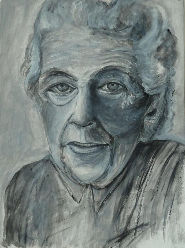 2002 - Portrait Agatha Christie, 40x50cm, Bleistift