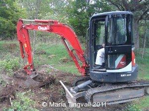 Jonas gräver