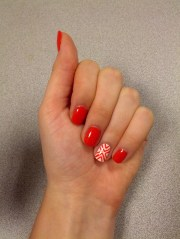 fun summery nails coral triangle