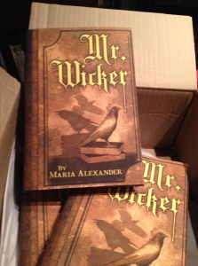 Hardcover copies of Mr. Wicker