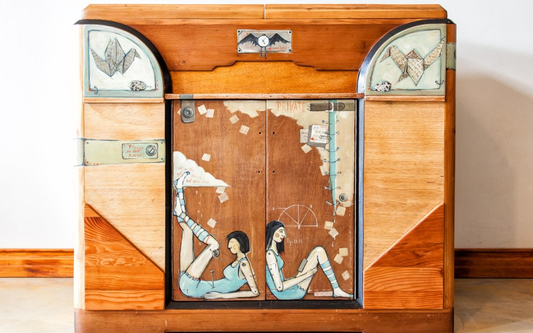 Transformation of an Art Deco style Cabinet