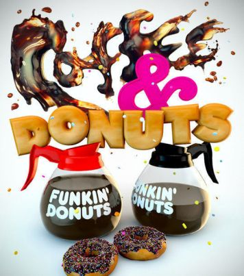 Coffe and Donuts Typography