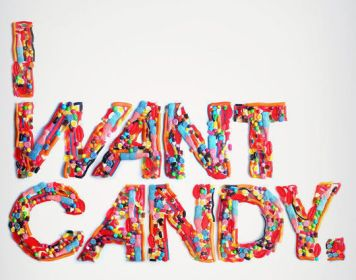 I want Candy Typography