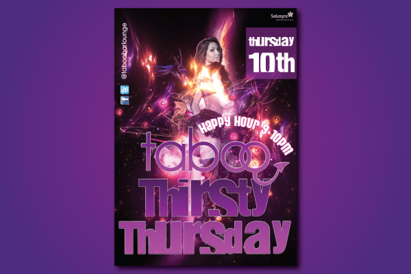 Taboo-Thirsty-Thursday-Flyer