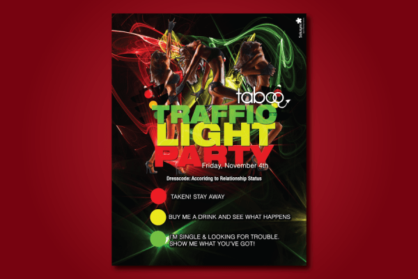 Taboo-Traffic-Light-Party-Flyer