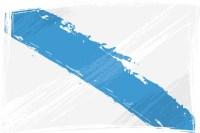 Azul e branco: as cores da Galiza.
