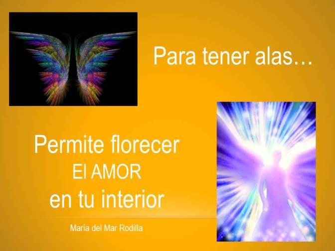 Para tener alas permite florecer...
