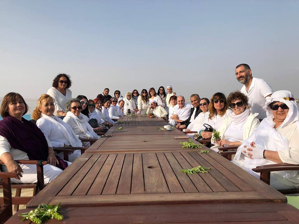 Foto del grupo en el lago Fayum