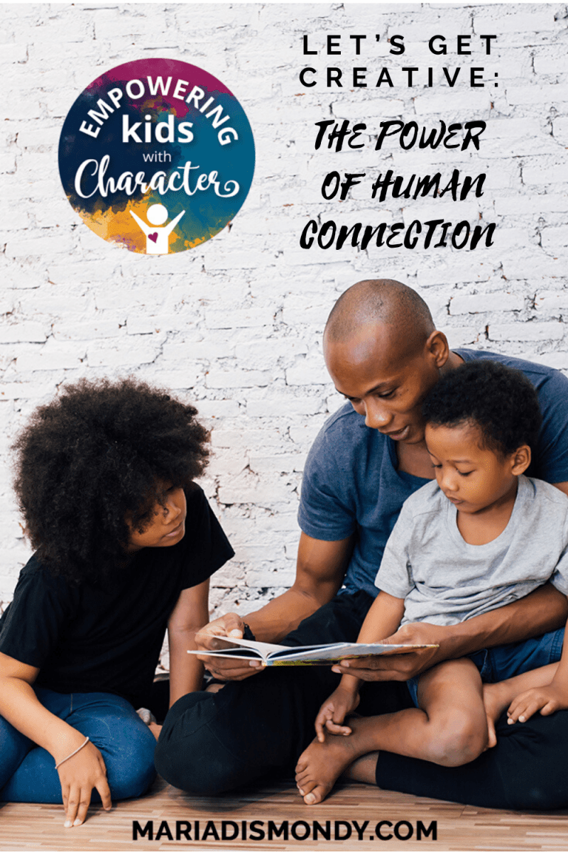 Let's Get Creative: The Power of Human Connection-Even during a time of social distancing, studies have revealed that human connection — something as simple as getting an offer of help from a stranger or looking at a picture of someone you love — can ease pain and reduce physical symptoms of stress. #HumanConnection #GetCreative #FamilyFun #SocialDistancing #VirtualFamilyDinner #BusyFamilies