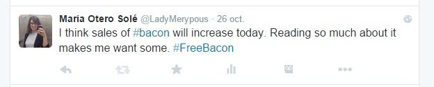 #FreeBacon | Maria en la red