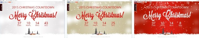 Cuánto falta para Navidad - Diferentes diseños del christmasday countdown colours