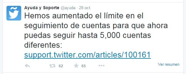 Tweet límite 500 Ayuda | Maria en la red
