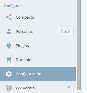 wordpress configuración