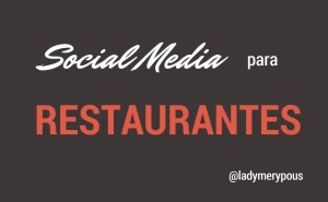 Social Media para tu restaurante o cafetería