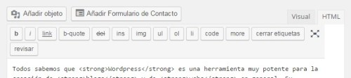 wordpress-barra-herramientas-html