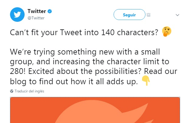 twitter elimina su limite de 140 caracteres