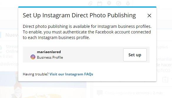 Cómo publicar en Instagram desde Hootsuite - configuración | Maria en la red
