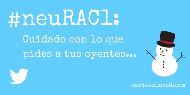 #neuRac1 - Trending Topic Twitter Trols | Maria en la red