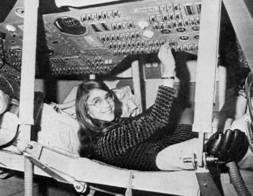 Margaret Hamilton a los mandos del Apollo 11