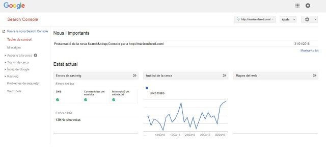 Google Search Console Maria en la red